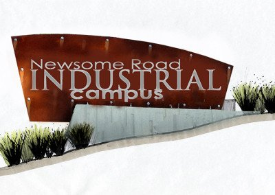 Newsome Road Industrial Campus Sign