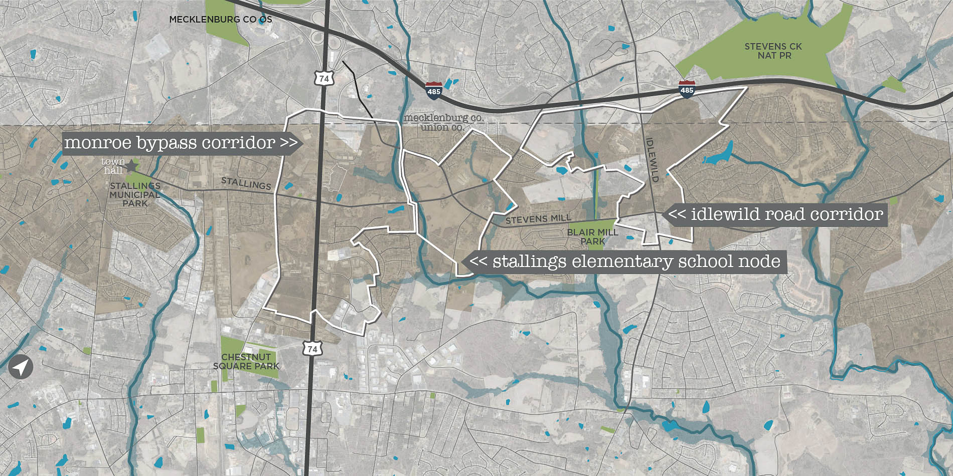 destination by design urban planning map stallings north carolina
