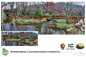 Middle fork greenway proposed bridge at blue ridge parkway and highway 321