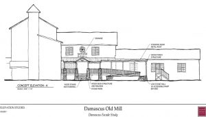 damascus virginia old mill facade study